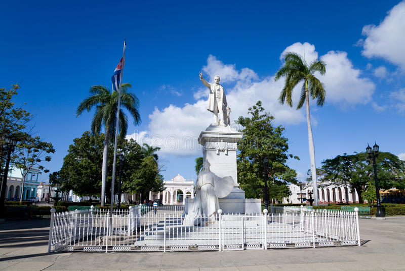 Jose Marti park, Cienfuegos, Kuba zdjęcie royalty free