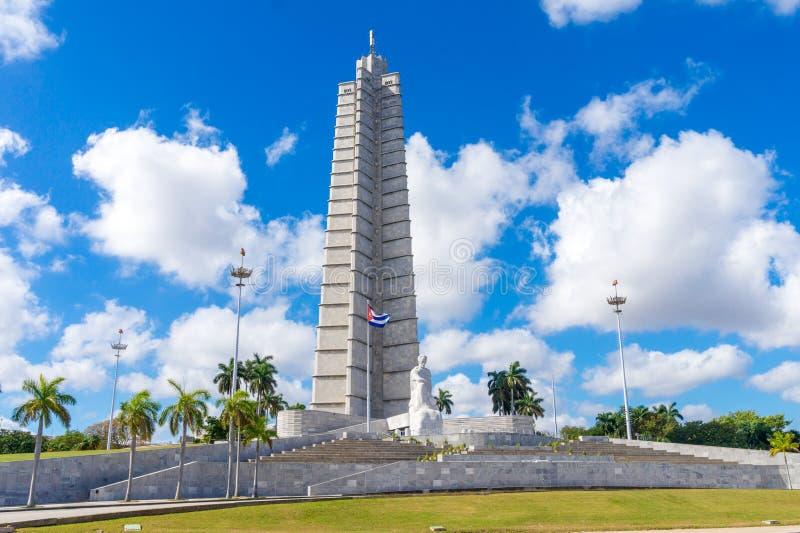 Jose Marti pomnik Przy rewolucja kwadratem obrazy stock
