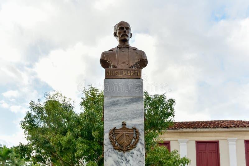 Jose Marti zabytek - Vinales, Kuba zdjęcie royalty free