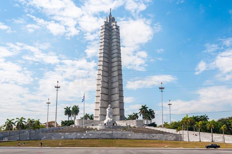 Jose Marti zabytek w rewolucja kwadracie w Hawańskim, Kuba zdjęcia stock