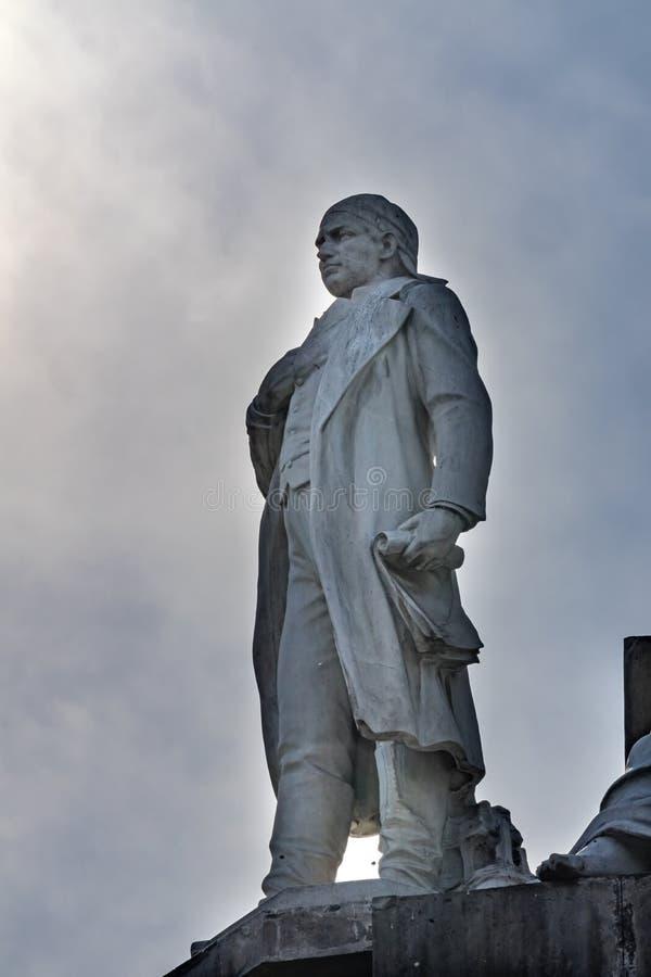 Jose Morelos Statue Independence Monument Mexico-City Mexico stock fotografie