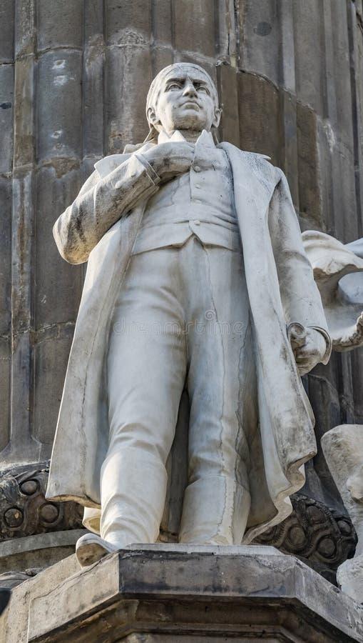 Jose Morelos Statue Independence Monument Mexico-City Mexico royalty-vrije stock afbeeldingen