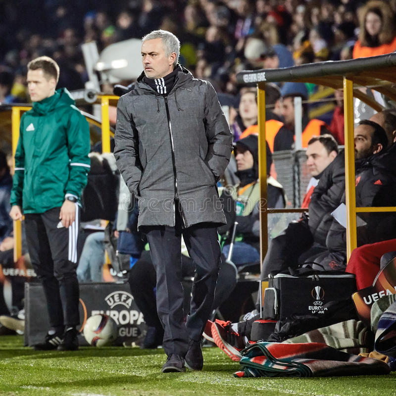 Jose Mourinho, στιγμές παιχνιδιών στοκ εικόνα με δικαίωμα ελεύθερης χρήσης
