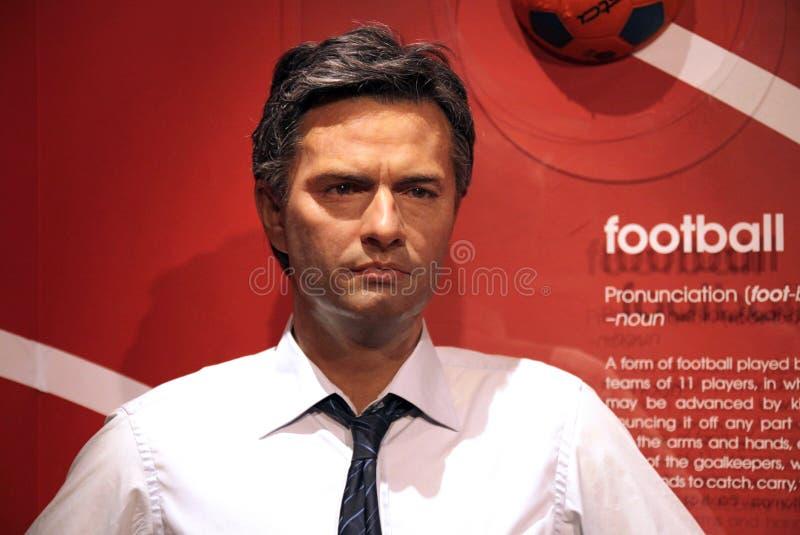 Jose Mourinho bij Mevrouw Tussaud's stock fotografie