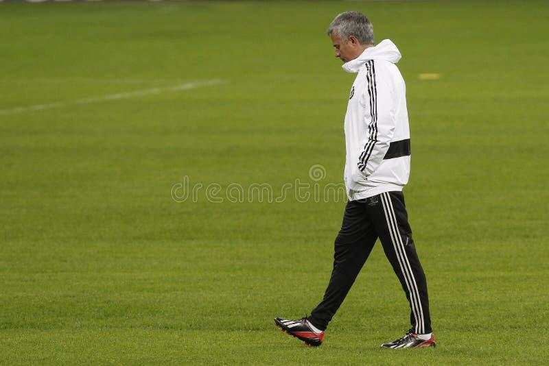Jose Mourinho decepcionado fotografía de archivo
