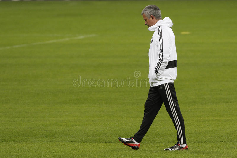 Jose Mourinho disappointed stock photography