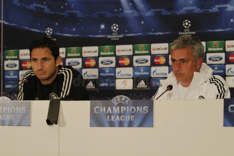 Jose Mourinho e Frank Lampard fotografie stock libere da diritti