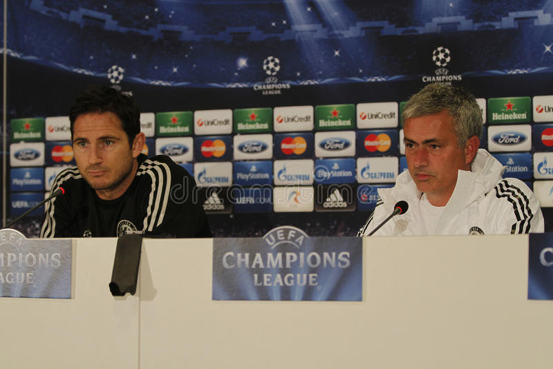 Jose Mourinho und Frank Lampard lizenzfreie stockfotos