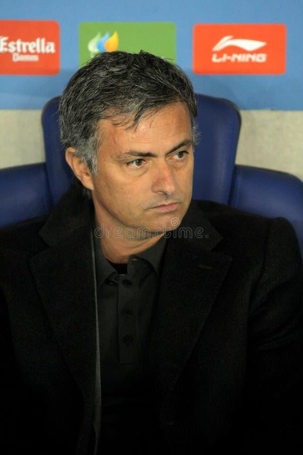 Jose Mourinho van Real Madrid stock foto's
