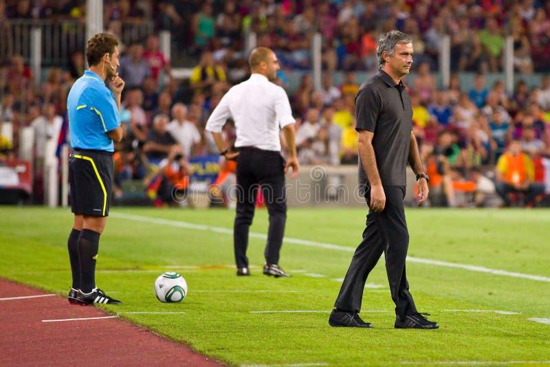 Jose Mourinho van Real Madrid stock fotografie