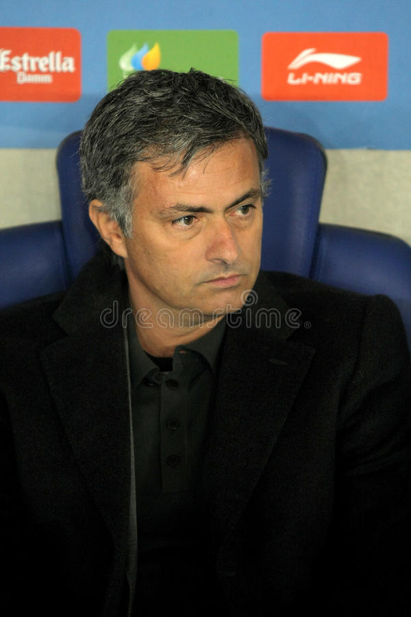 Jose Mourinho von Real Madrid stockfotos