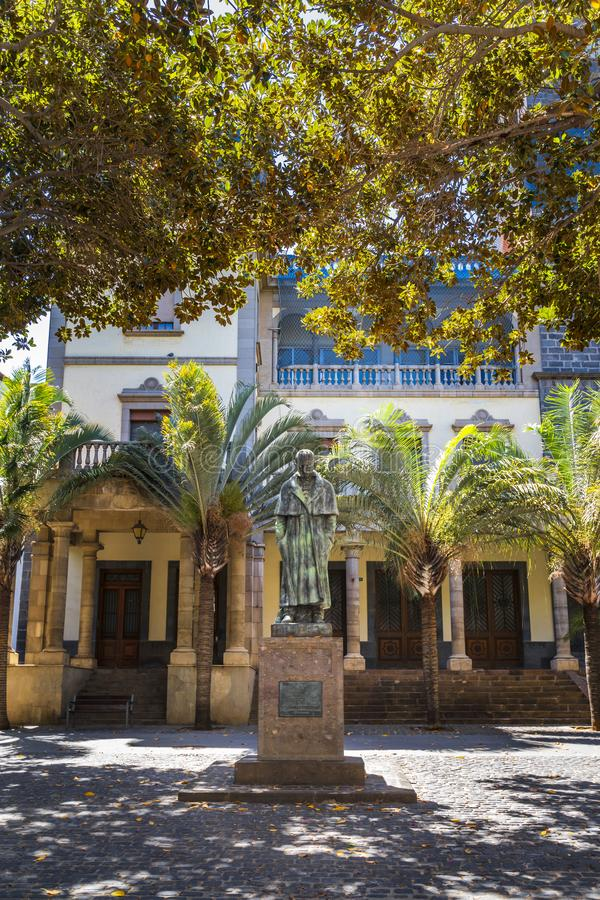 Jose Murphy statua w Santa Cruz de Tenerife zdjęcie stock