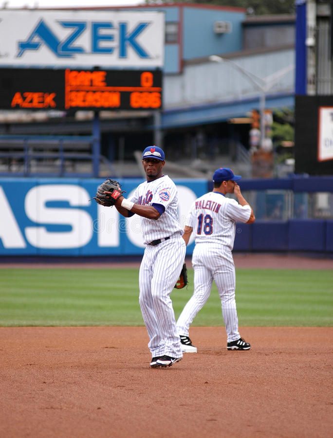 Jose Reyes New York Mets. New York Mets shortstop Jose Reyes #7 royalty free stock photos