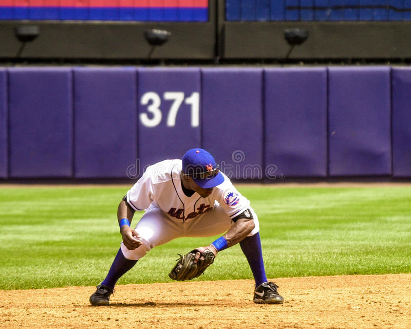 Jose Reyes New York Mets royaltyfri foto