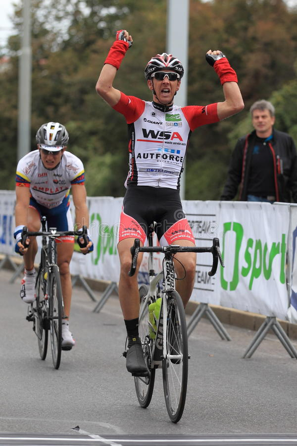 Josef Benetseder - Bohemia att cykla turnerar 2013 royaltyfria bilder