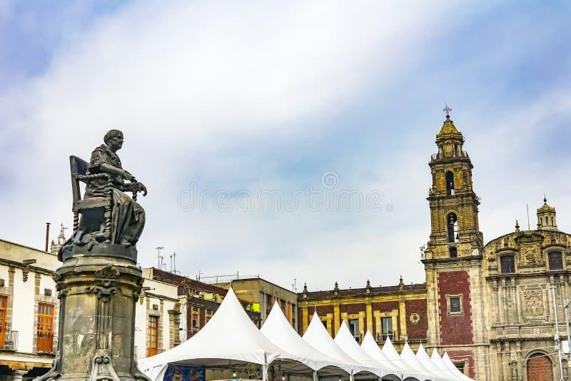Josefa Ortiz de Dominguez Statue Plaza Santo Domingo Mexico City Mexico imagem de stock royalty free
