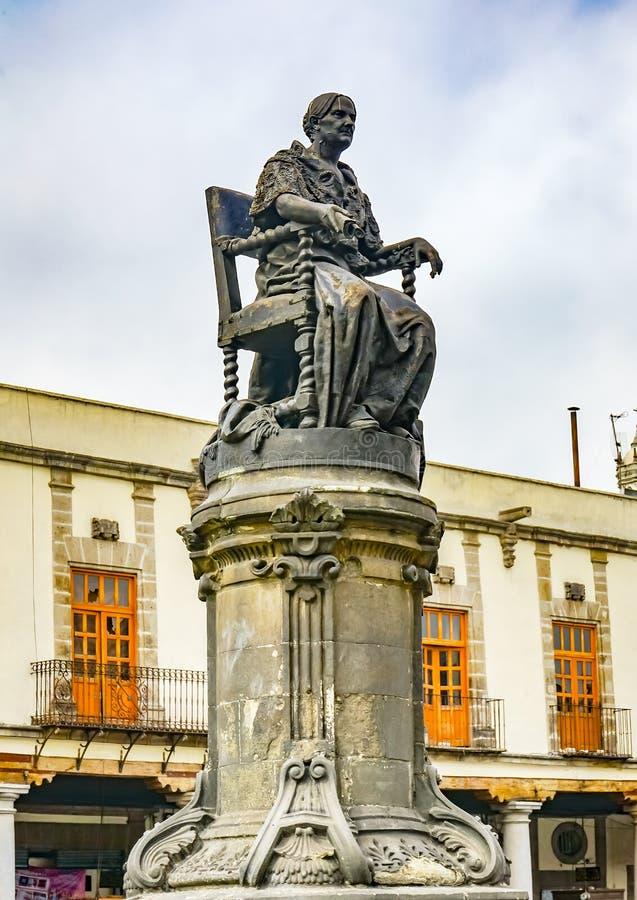 Josefa Ortiz de Dominguez Statue Plaza Santo Domingo Mexico City Mexico imagem de stock