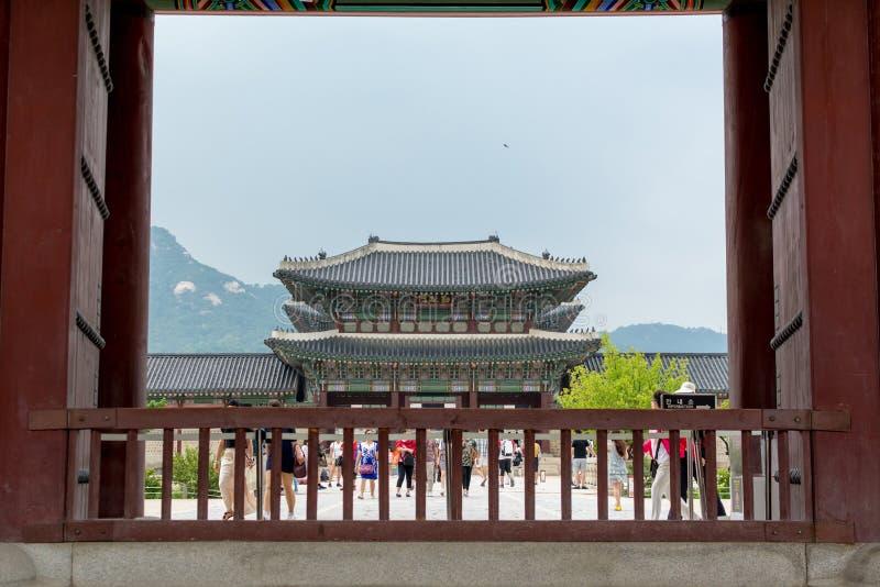 Joseon Dynastie Königsbüro in Gyeongbokgung in Seoul, Südkorea stockbild