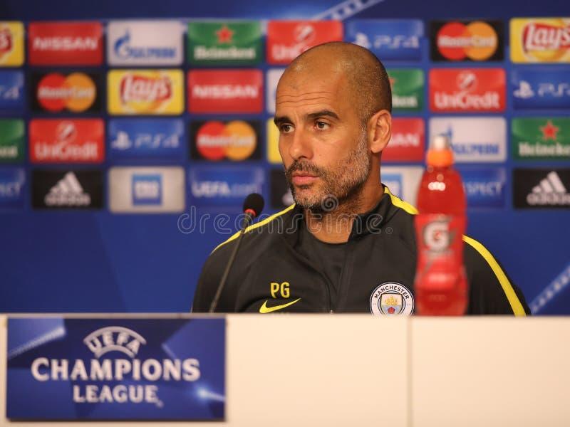 Josep Guardiola, directeur de Manchester City photo libre de droits