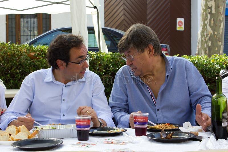 Josep Rull i Andreu и Ferran Armengol (CiU) стоковое изображение