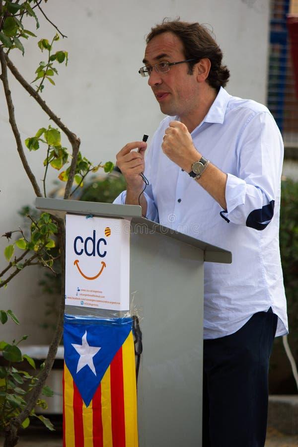 Josep Rull i Andreu (CiU) fotografia stock