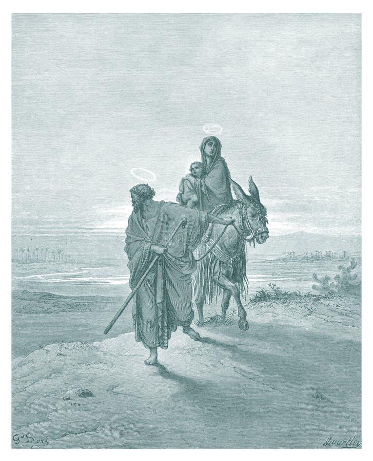 Joseph και σκίτσο απεικόνισης της Mary ελεύθερη απεικόνιση δικαιώματος