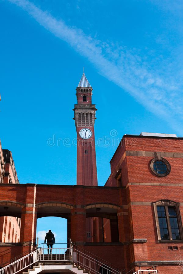 Joseph Chamberlain Memorial Clock Tower, Birmingham - 11 November 2016 royalty-vrije stock fotografie