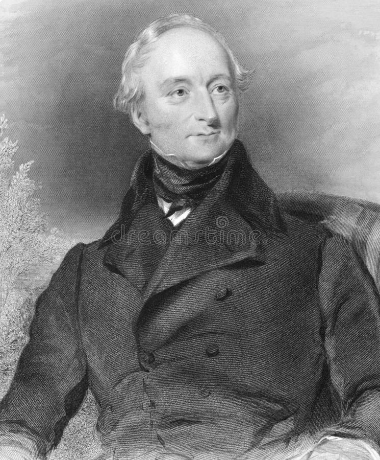 Joseph Devonsher Jackson. (1783-1857) on engraving from 1800s. Irish Conservative MP in the United Kingdom Parliament and later a Judge. Engraved by J.Brown stock photography