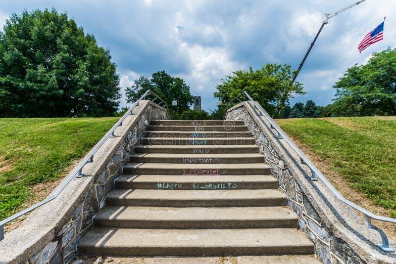 Joseph Dill Baker Memorial Carillon dans Frederick Maryla historique photo stock