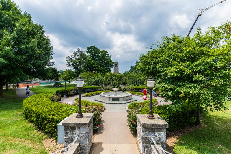 Joseph Dill Baker Memorial Carillon dans Frederick Maryla historique image stock