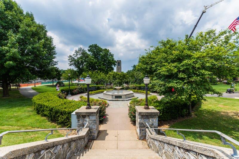 Joseph Dill Baker Memorial Carillon em Frederick Maryla histórico fotos de stock royalty free