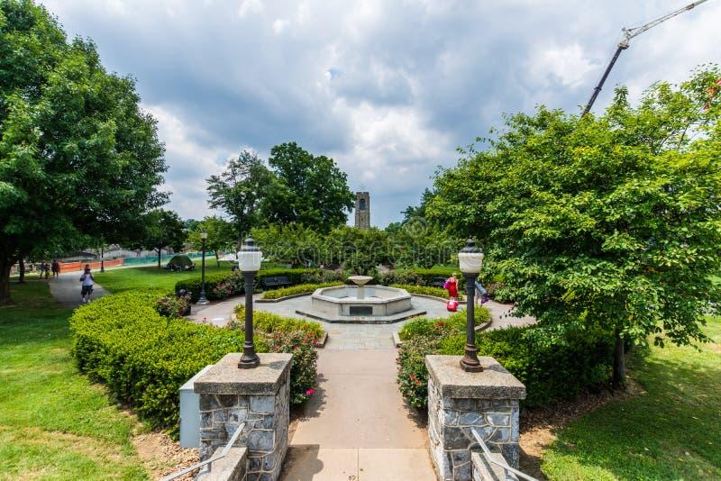 Joseph Dill Baker Memorial Carillon em Frederick Maryla histórico imagem de stock