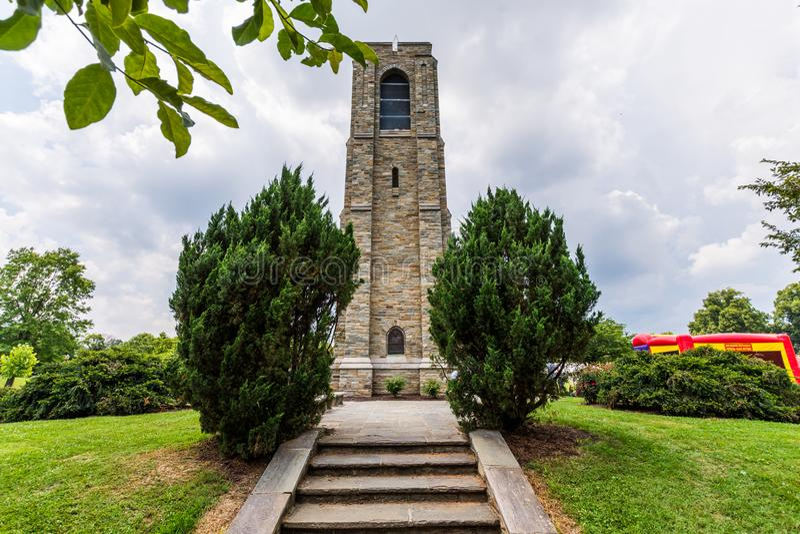 Joseph Dill Baker Memorial Carillon in Historisch Frederick Maryla royalty-vrije stock foto's