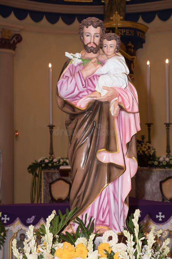 Joseph est un chiffre dans les évangiles, le mari de Mary, mère de Jésus, et est vénéré Ce Saint Joseph est dans le StJoshep photo libre de droits
