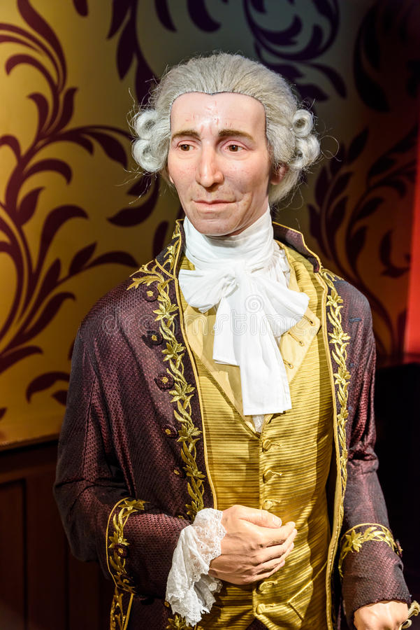 Joseph Haydn Figurine At Madame Tussauds Wax Museum royalty free stock images