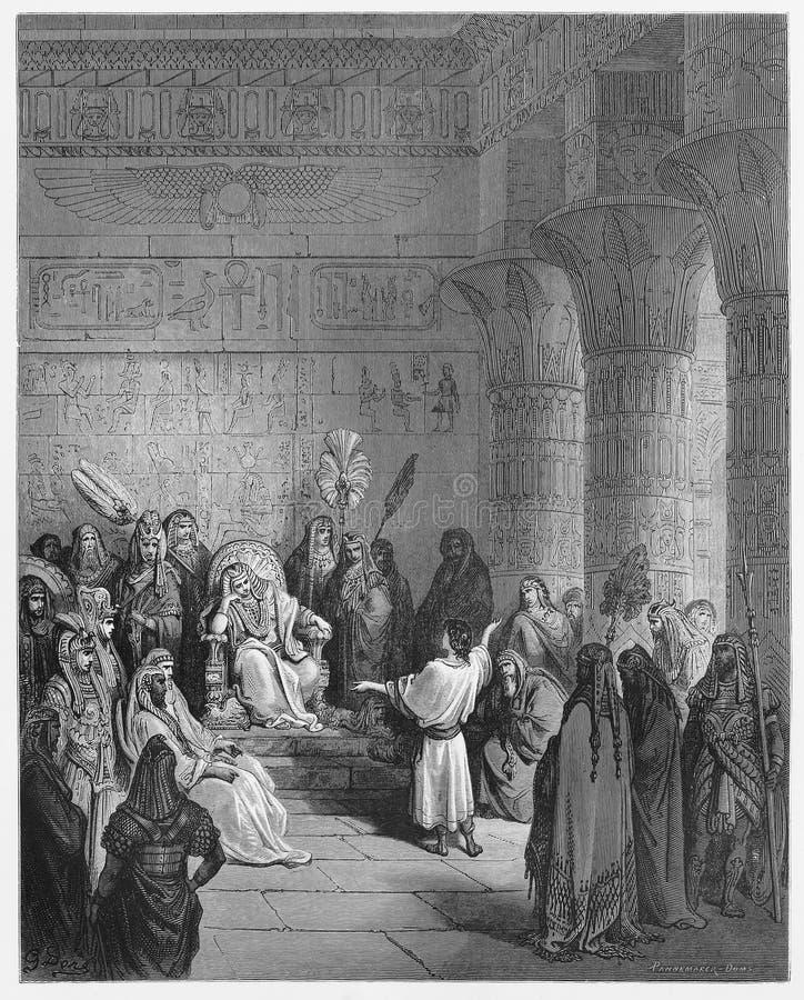 Joseph interpreta o sonho do Pharaoh ilustração royalty free