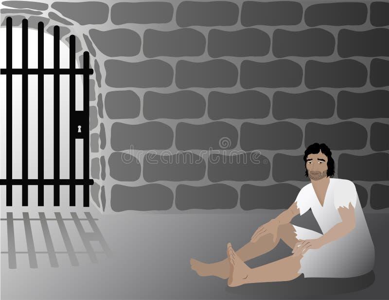 Joseph In Jail Biblical Illustration ilustração do vetor
