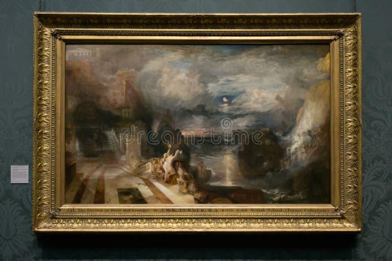 Joseph Mallord William Turner - das National Gallery, London stockbilder