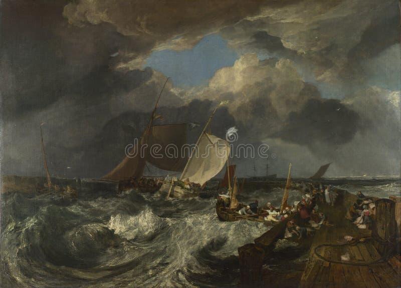 Joseph Mallord William Turner - embarcadero de Calais foto de archivo