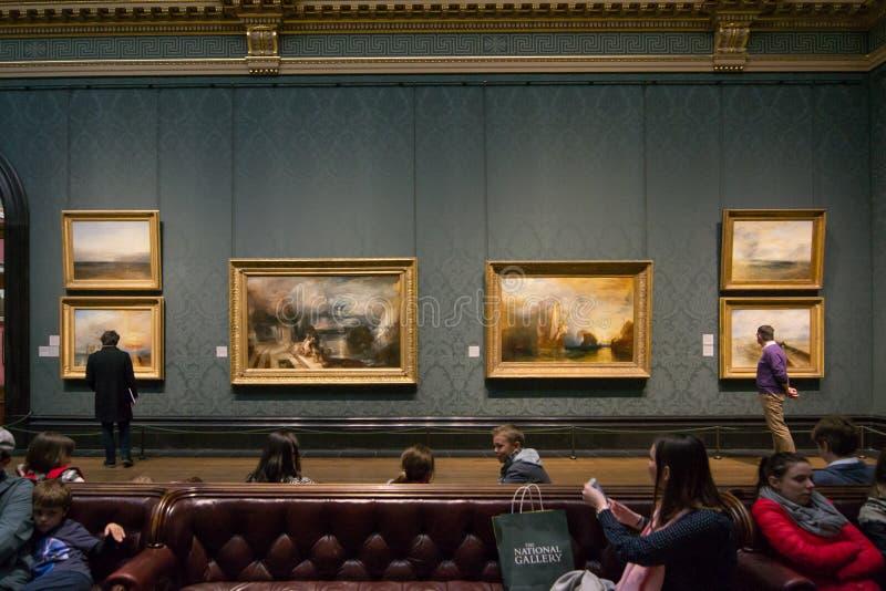 Joseph Mallord William Turner - il National Gallery, Londra immagine stock libera da diritti