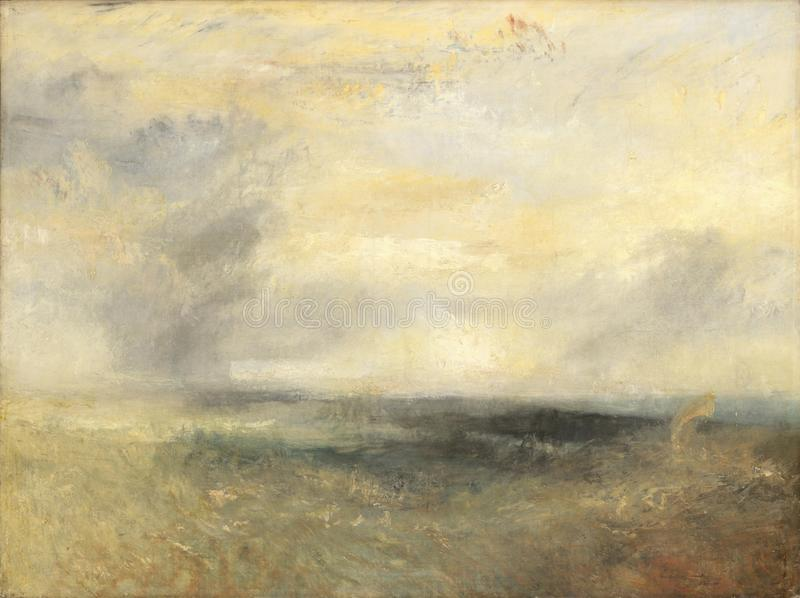 Joseph Mallord William Turner - Margate, från havet royaltyfria bilder