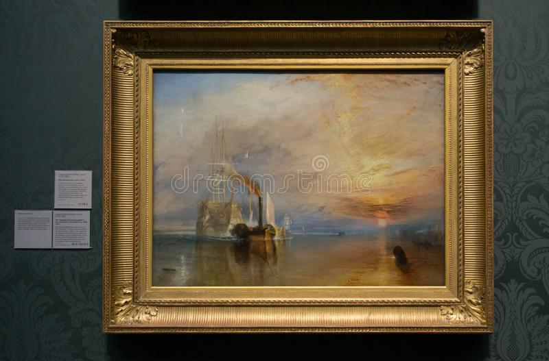 Joseph Mallord William Turner - o National Gallery, Londres imagens de stock