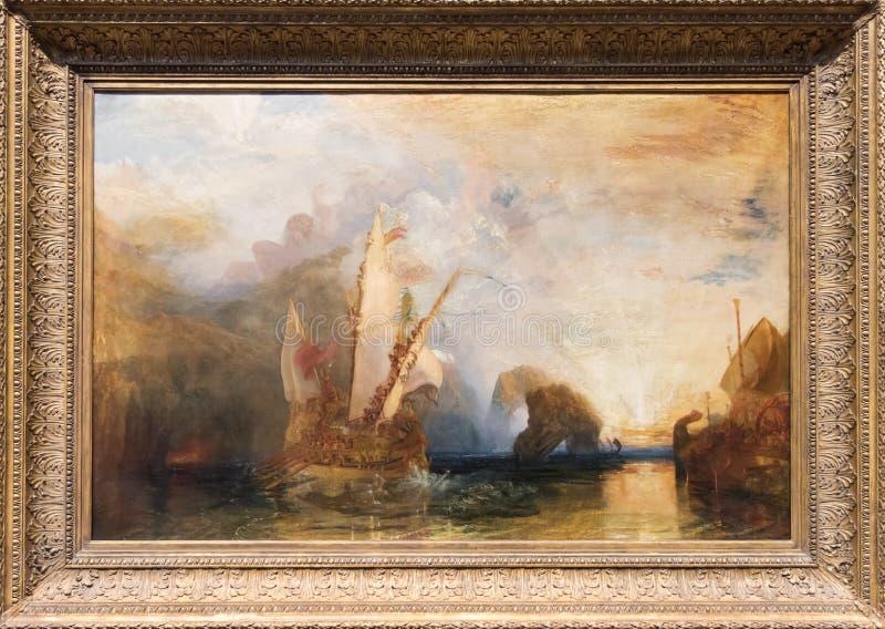 Joseph Mallord William Turner, pintando imagen de archivo