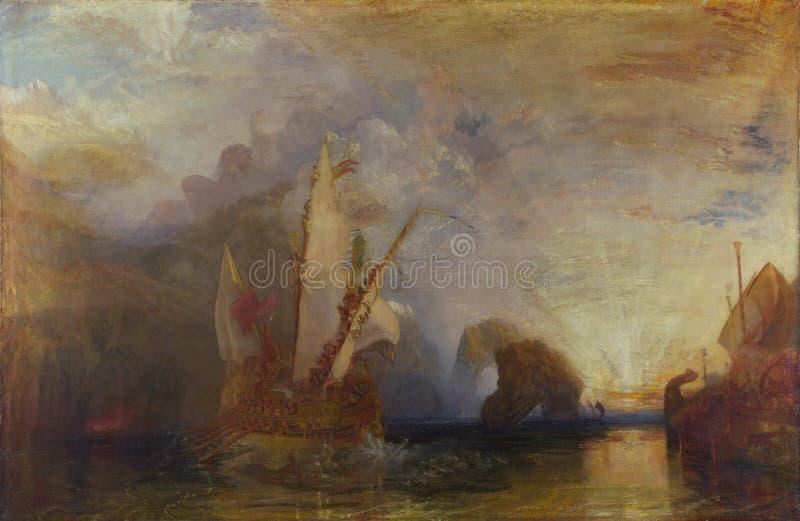 Joseph Mallord William Turner - Ulysses, die Odyssee Polyphemus- Homers verhöhnen lizenzfreies stockfoto