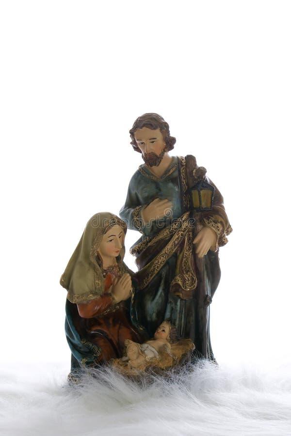 Joseph, Mary und Jesus stockfotos