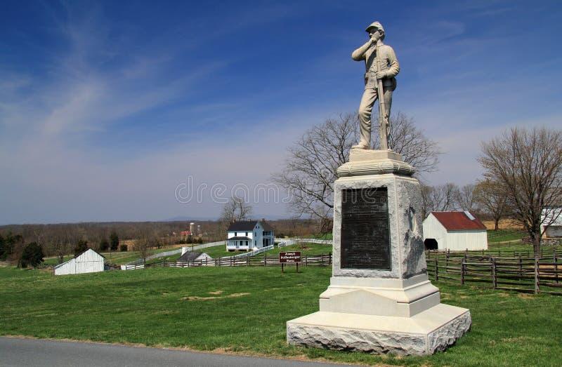 Joseph Poffenberger Farmstead at Antietam National Battlefield. SHARPSBURG, MD – APRIL 14: Union troops spent the night on the Joseph Poffenberger farm royalty free stock photo
