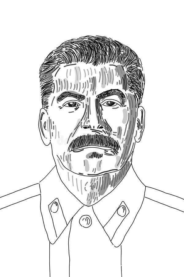 Joseph Stalin illustrazione vettoriale