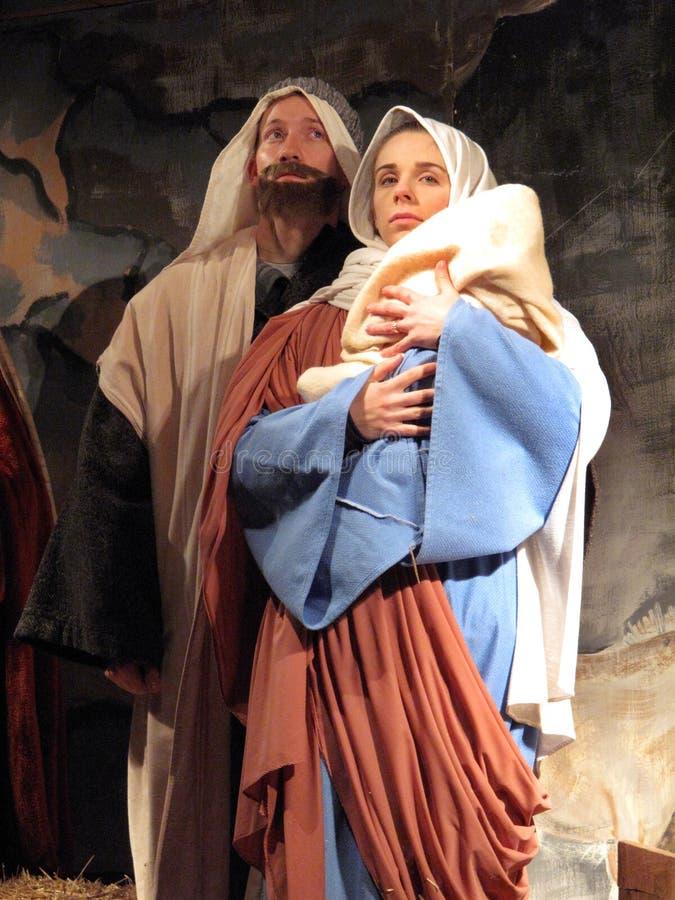Joseph und Mary lizenzfreies stockfoto