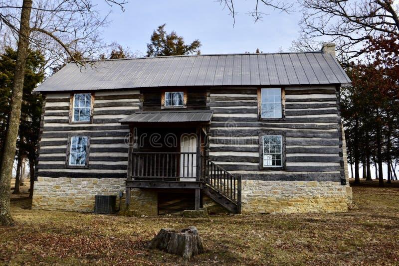Joseph Wallendorf Log House stockbild