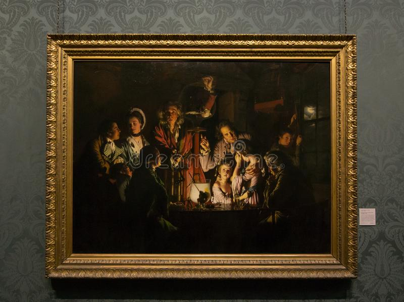 Joseph Wright of Derby - National Gallery, London arkivfoton